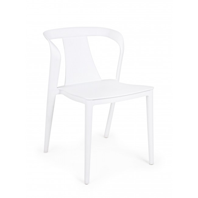 Scaun din plastic Alyssa Alb, l53xA51,5xH78 cm
