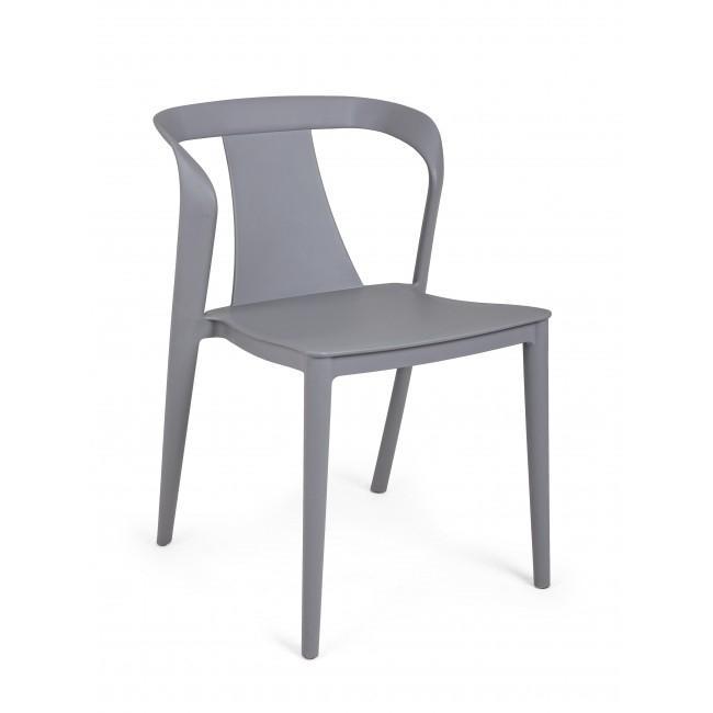 Scaun din plastic Alyssa Gri Deschis, l53xA51,5xH78 cm