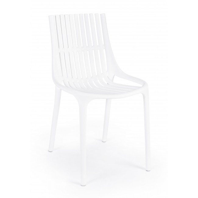 Scaun din plastic Cassandra Alb, l55xA46xH81 cm