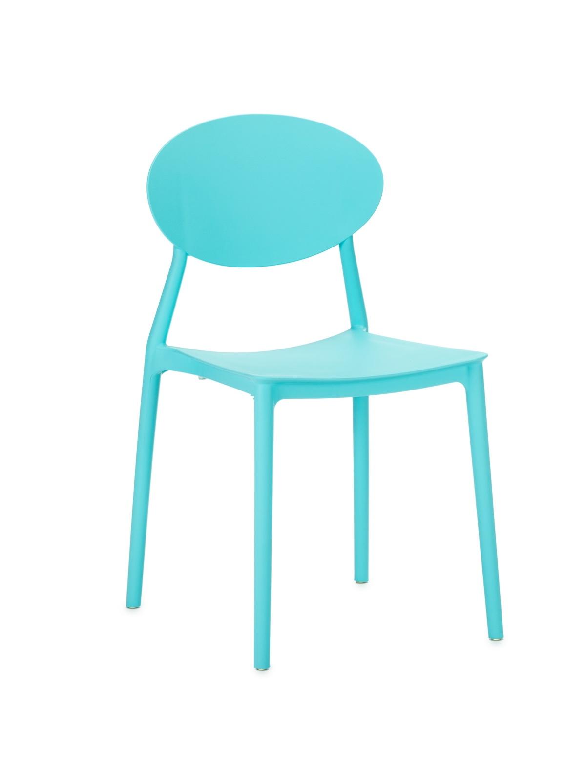 Scaun din plastic, cu picioare din plastic Lolita Blue, l47xA42xH82cm imagine
