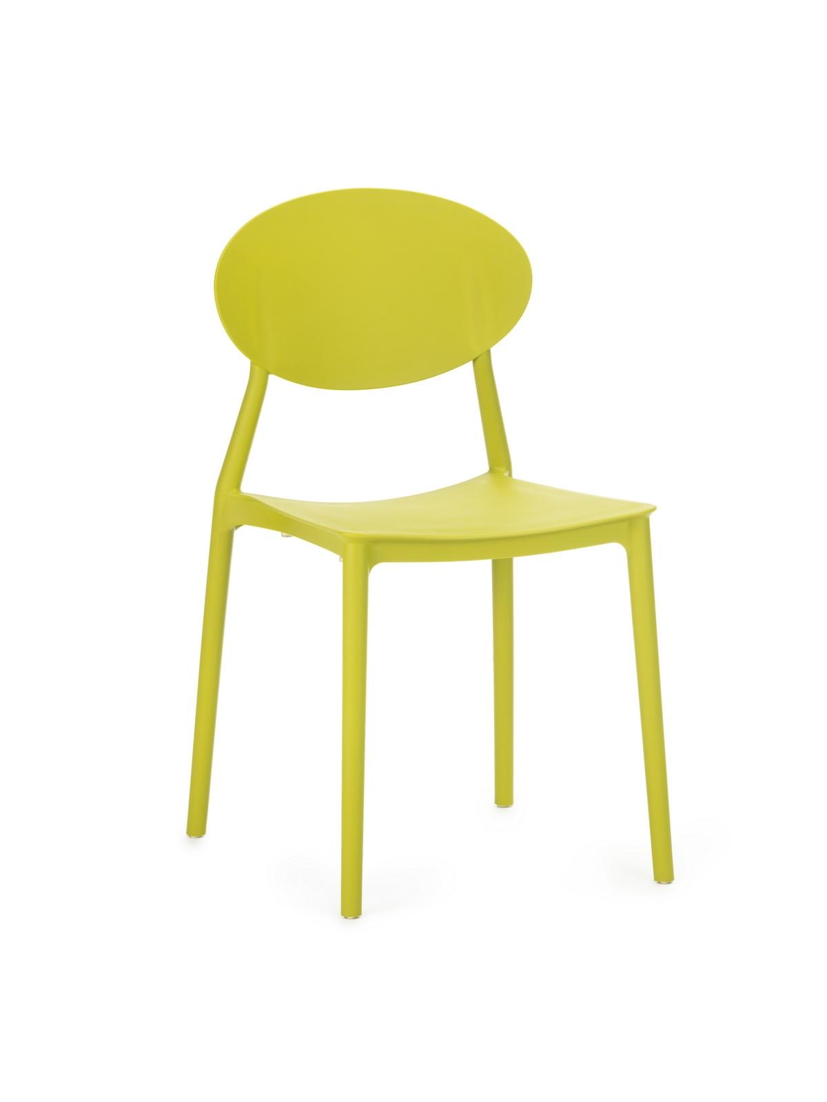 Scaun din plastic, cu picioare din plastic Lolita Green, l47xA42xH82cm imagine