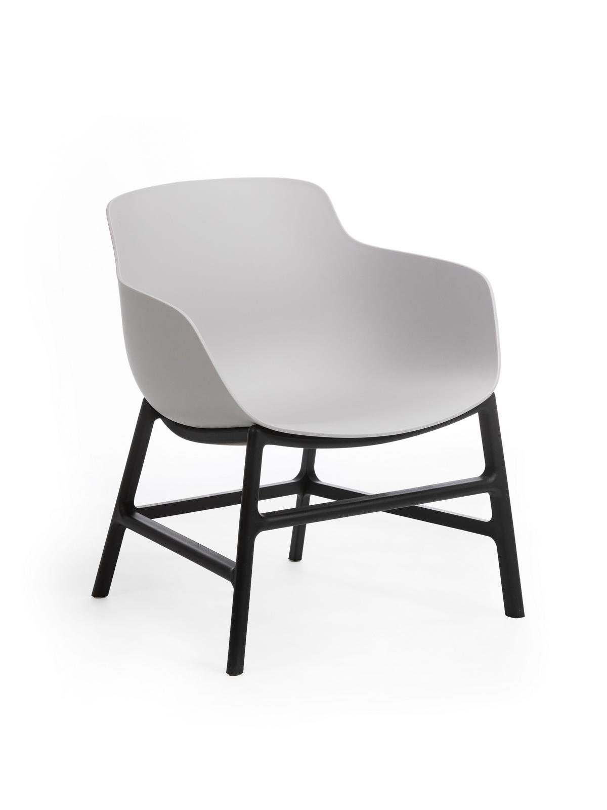 Scaun din plastic, cu picioare metalice Ines Grey, l63xA62xH70cm