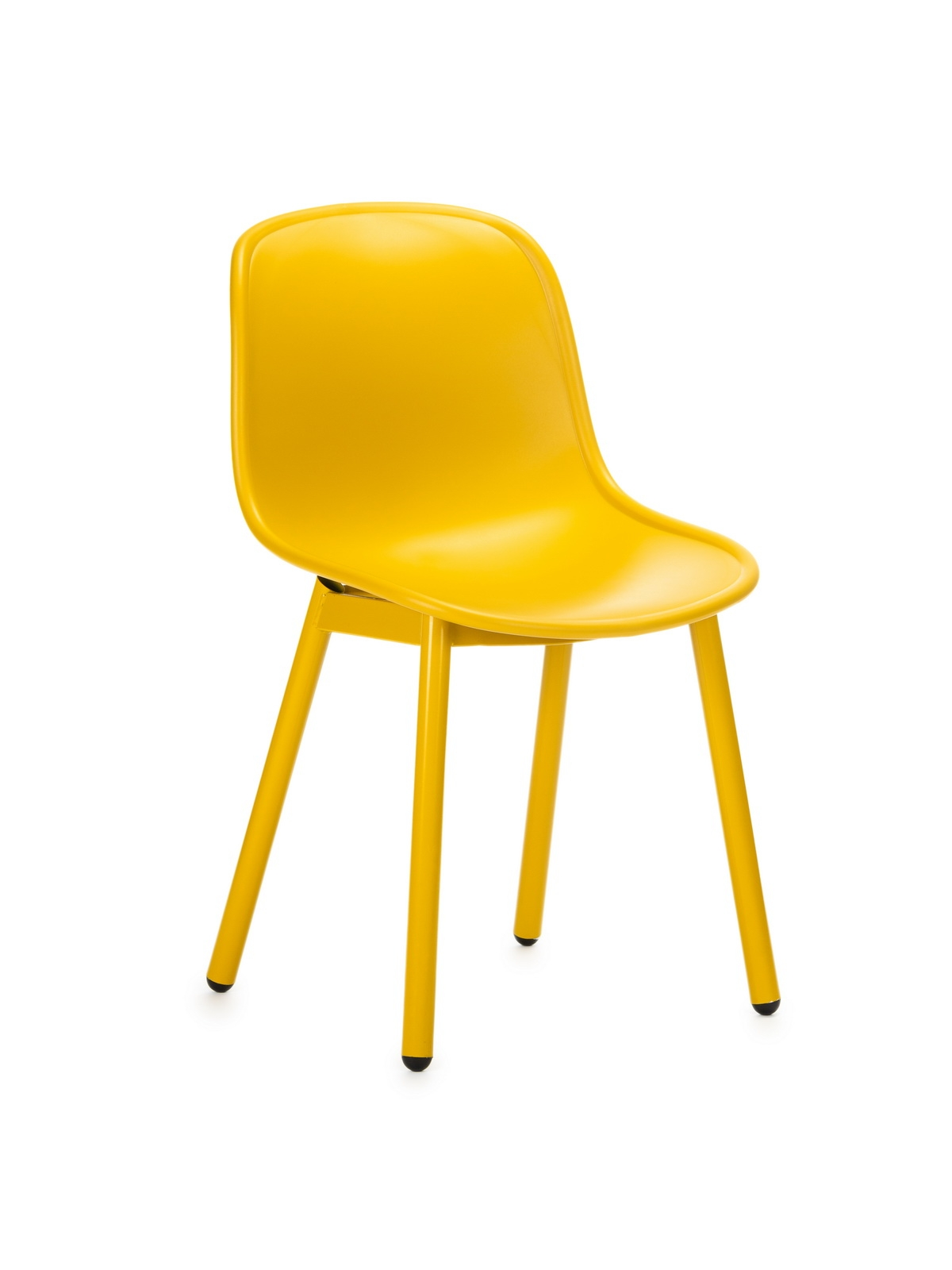 Scaun din plastic, cu picioare metalice Odyn Yellow, l57xA54xH78cm imagine