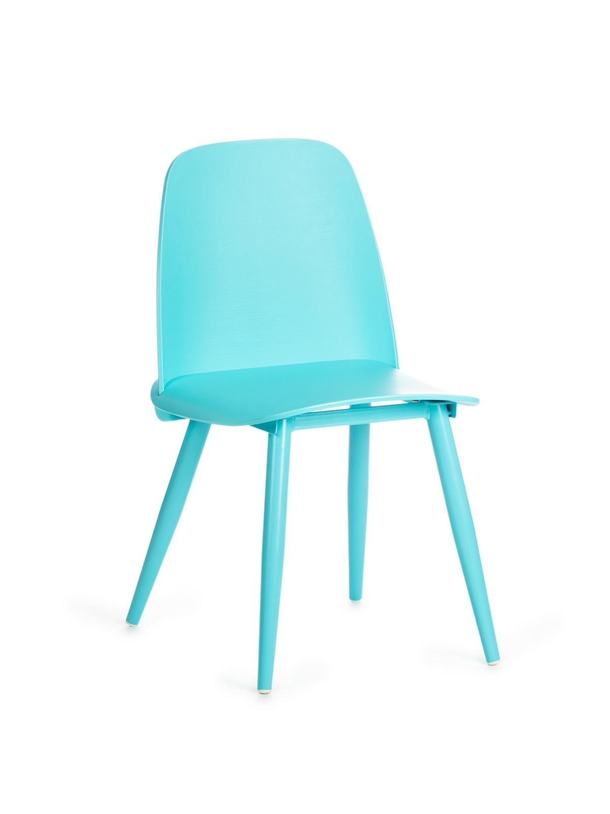 Scaun din plastic, cu picioare metalice Sting Blue, l50xA46xH80cm poza