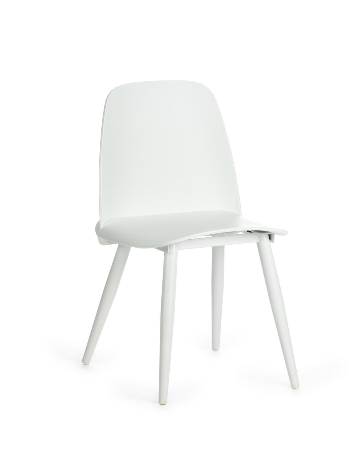 Scaun din plastic, cu picioare metalice Sting White, l50xA46xH80cm