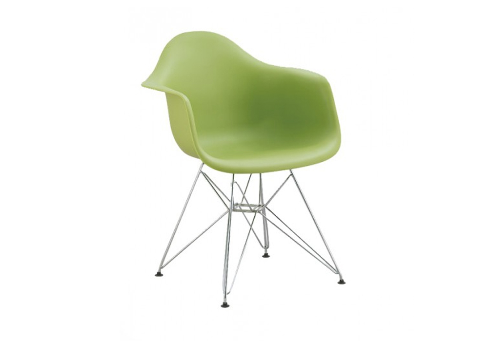 Scaun din plastic cu picioare metalice Tingo Metal Green l62xA46xH825 cm