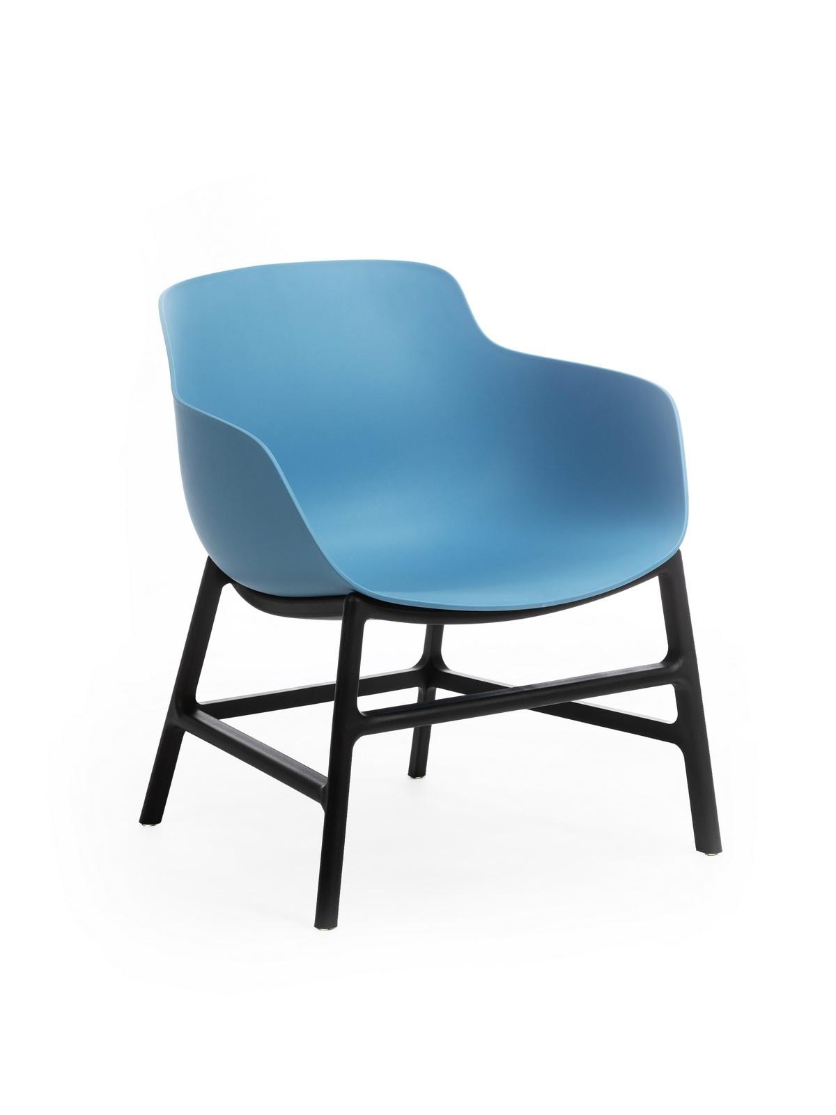 Scaun din plastic Ines Albastru / Negru, l63xA62xH70 cm