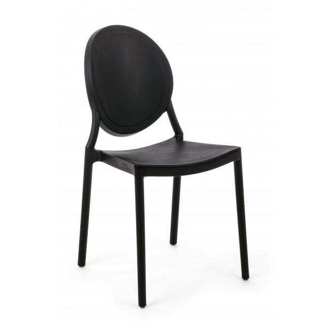 Scaun din plastic Shannon Negru, l40,5xA54xH85 cm