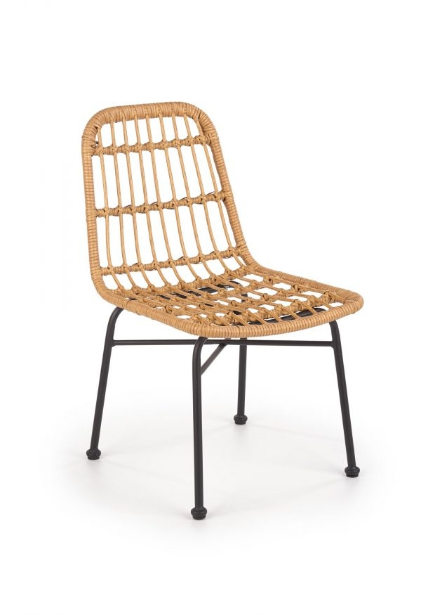 Scaun din ratan cu picioare metalice K401 Natural, l47xA45xH85 cm
