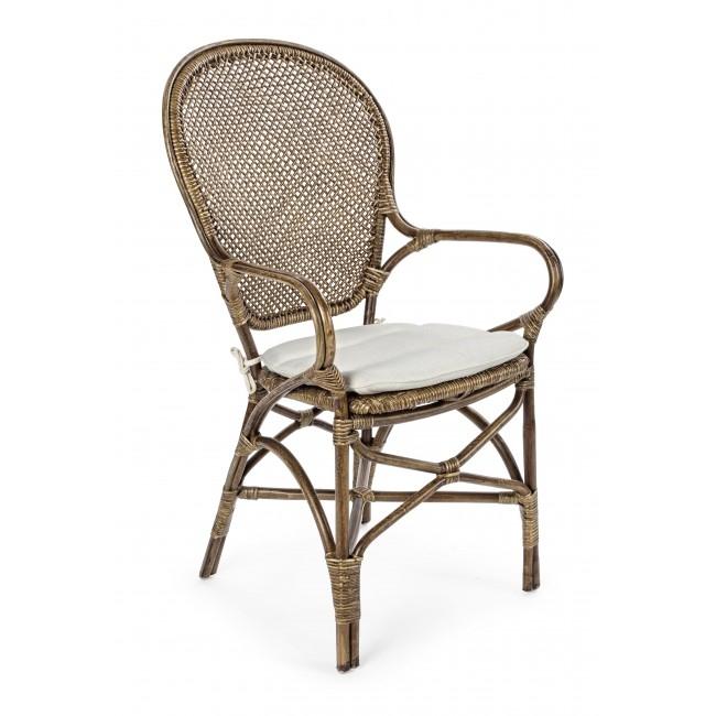 Scaun din ratan Edelina W Honey, l55xA62xH96 cm