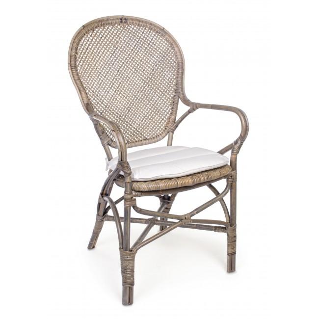 Scaun din ratan Edelina W Natural, l55xA62xH96 cm
