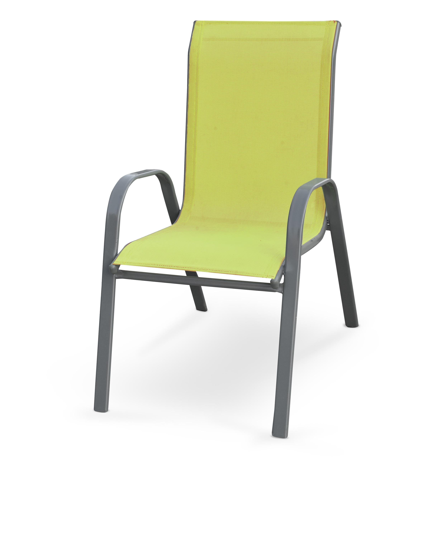 Scaun din stofa si cadru metalic Mosler Verde / Gri inchis l55xA72xH95 cm