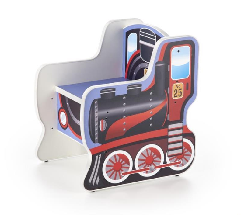 Scaun din pal pentru copii Lokomo Multicolor, l42xA50xH57 cm imagine