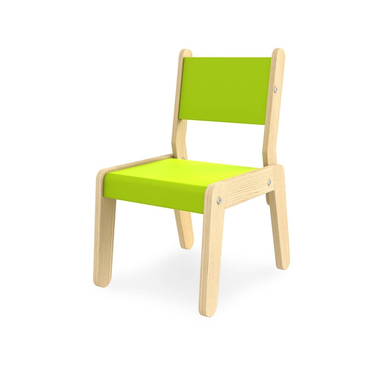 Scaun pentru copii din MDF Simple Green / Oak l45xA33xH61 cm