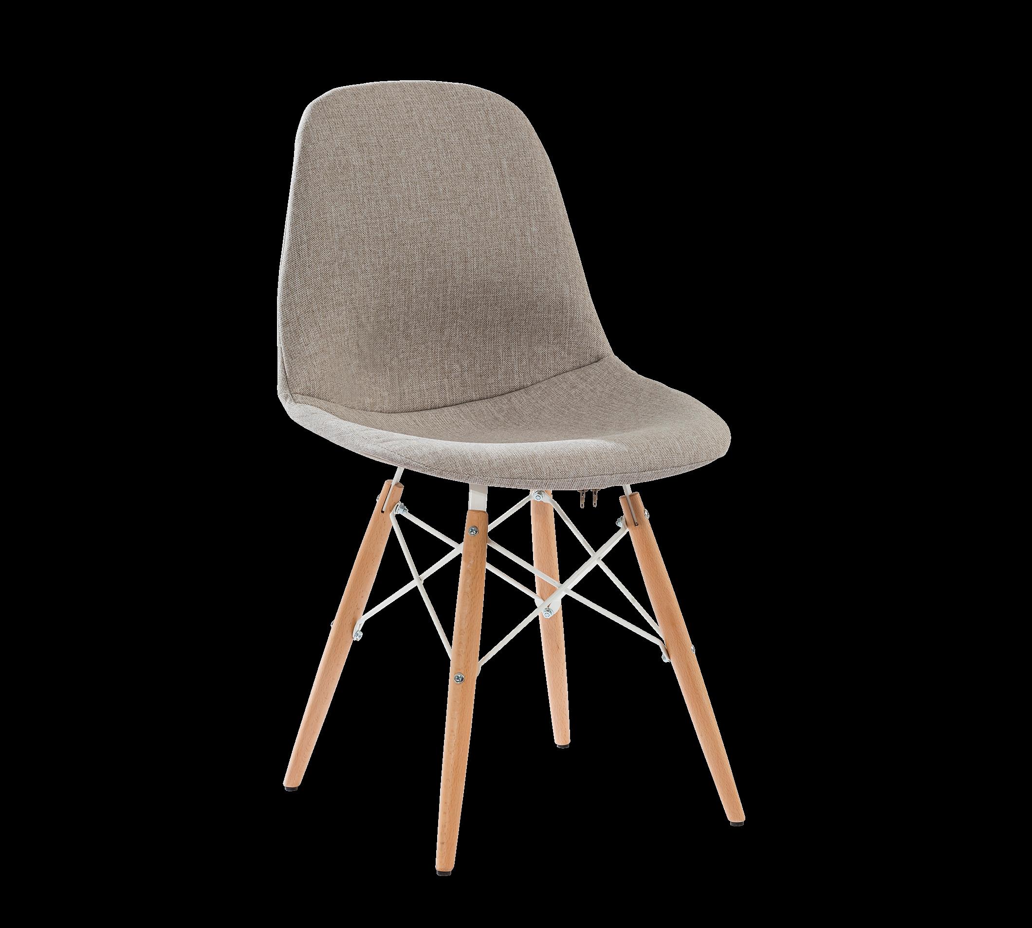 Scaun pentru copii tapitat cu stofa si picioare din lemn Dynamic Grej, l50xA50xH85 cm imagine