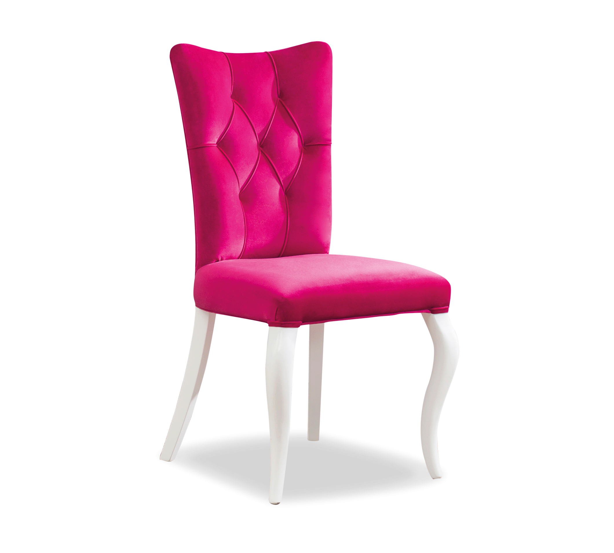 Scaun pentru copii, tapitat cu stofa si picioare din lemn Rosa Pink, l55xA56xH84 cm imagine