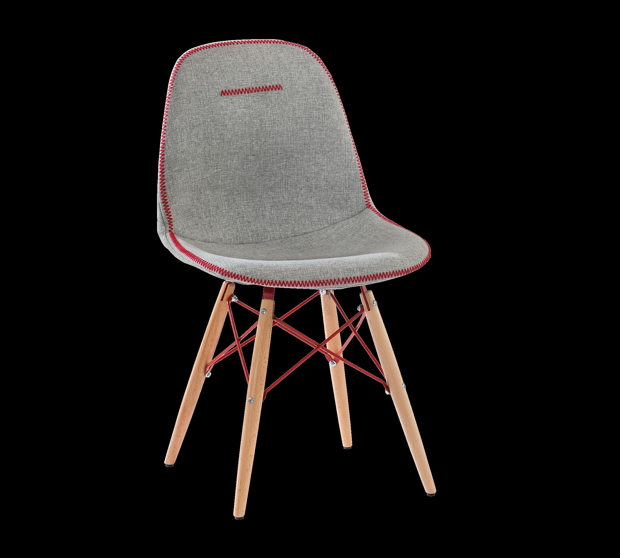 Scaun pentru copii tapitat cu stofa si picioare din lemn Trio Gri, l50xA50xH85 cm imagine