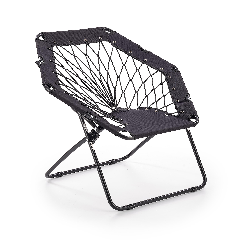 Scaun pliabil pentru copii din metal si poliester Widget Black l83xA72xH75 cm
