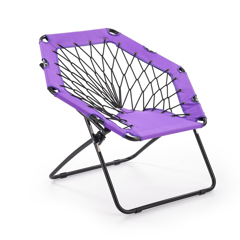 Scaun pliabil pentru copii, din metal si poliester Widget Purple / Black, l83xA72xH75 cm imagine