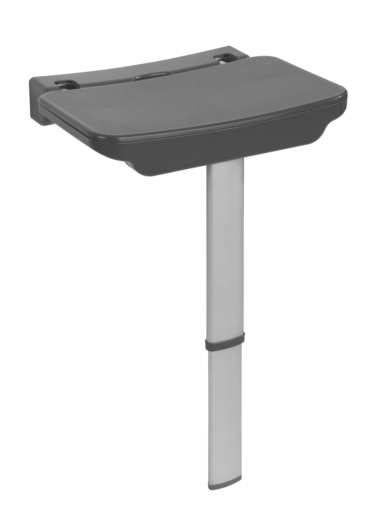 Scaun pliabil pentru dus cu picior din aluminiu, Secura Premium Antracit, l37xA30,5xH56,5 cm imagine