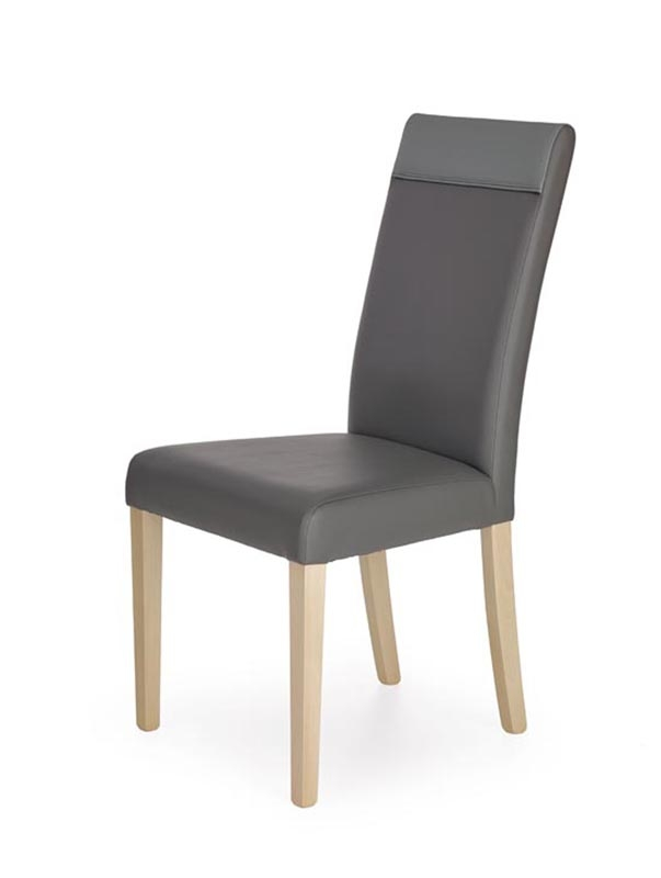Scaun din lemn tapitat Norbert Grey