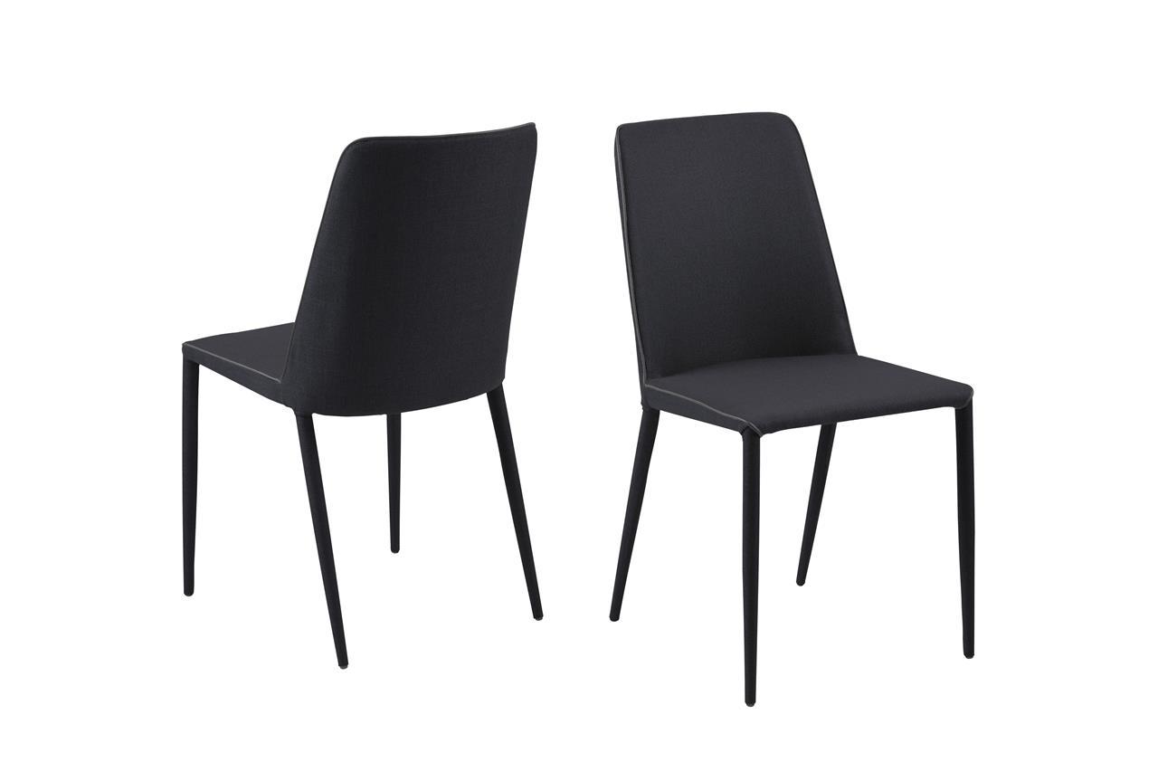 Set 2 scaune tapitate cu stofa Avanja Anthracite
