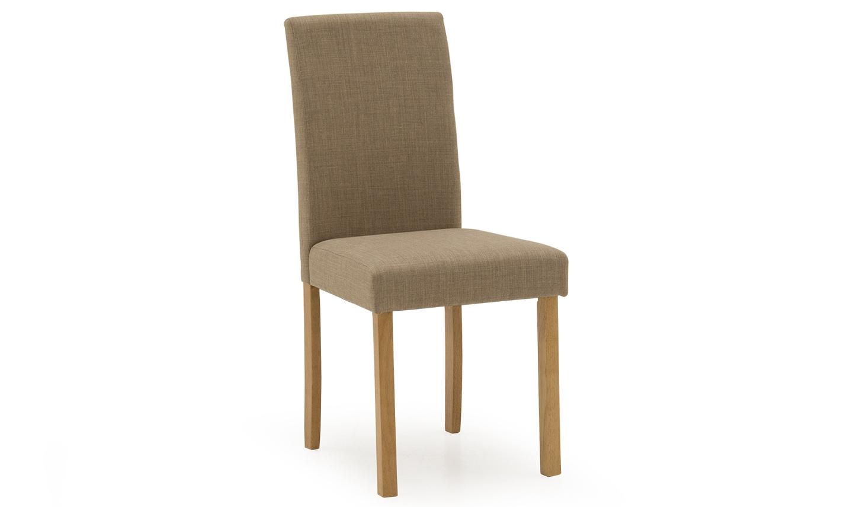 Set 2 scaune tapitate cu stofa cu picioare de lemn Anna Beige l43xA50xH90 cm