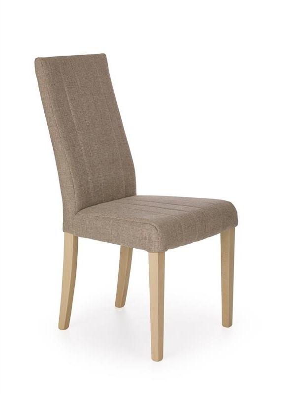 Scaun tapitat cu stofa, cu picioare din lemn de fag Diego Sonoma Oak, l47xA59xH99 cm
