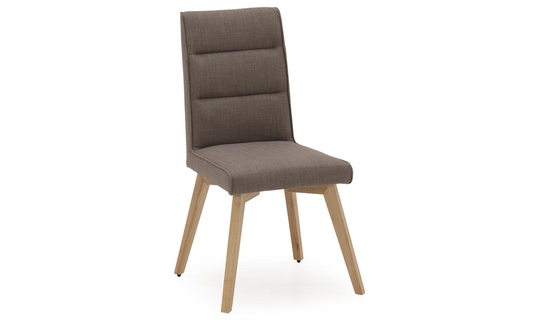 Set 2 scaune tapitate cu stofa cu picioare din lemn Jenoah Grey / Oak l445xA44xH935 cm