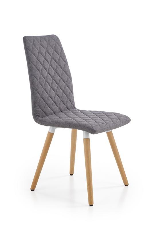 Scaun tapitat cu stofa, cu picioare din lemn K282 Grey, l56xA44xH93 cm