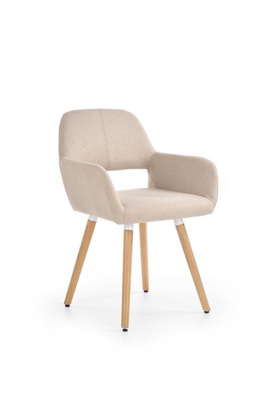 Scaun tapitat din lemn K283 Beige