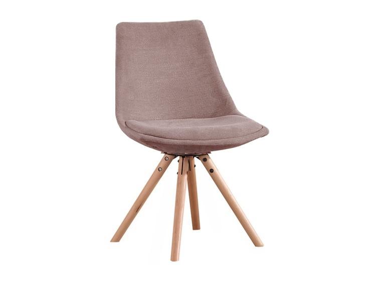 Scaun tapitat cu stofa si cu picioare de lemn Leah Grey l47xA54xH80 cm