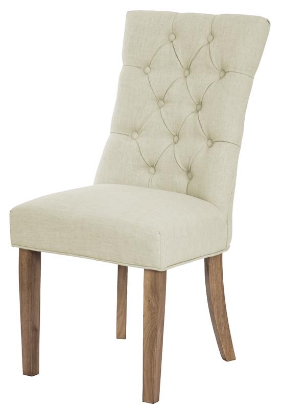 Scaun tapitat cu stofa cu picioare din lemn Lord Beige / Oak l51xA59xH100 cm