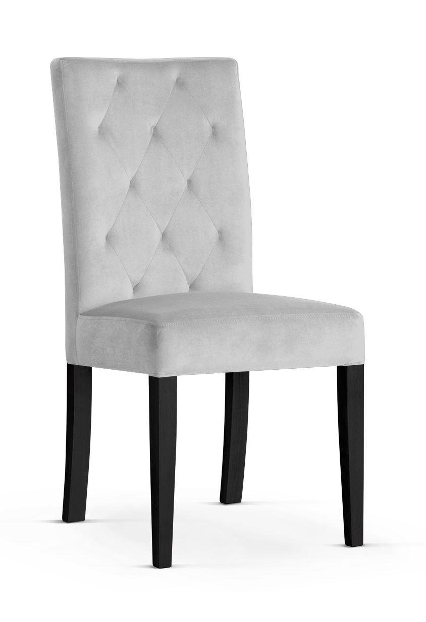 Scaun tapitat cu stofa cu picioare din lemn Orlando Silver / Black l46xA60xH97 cm