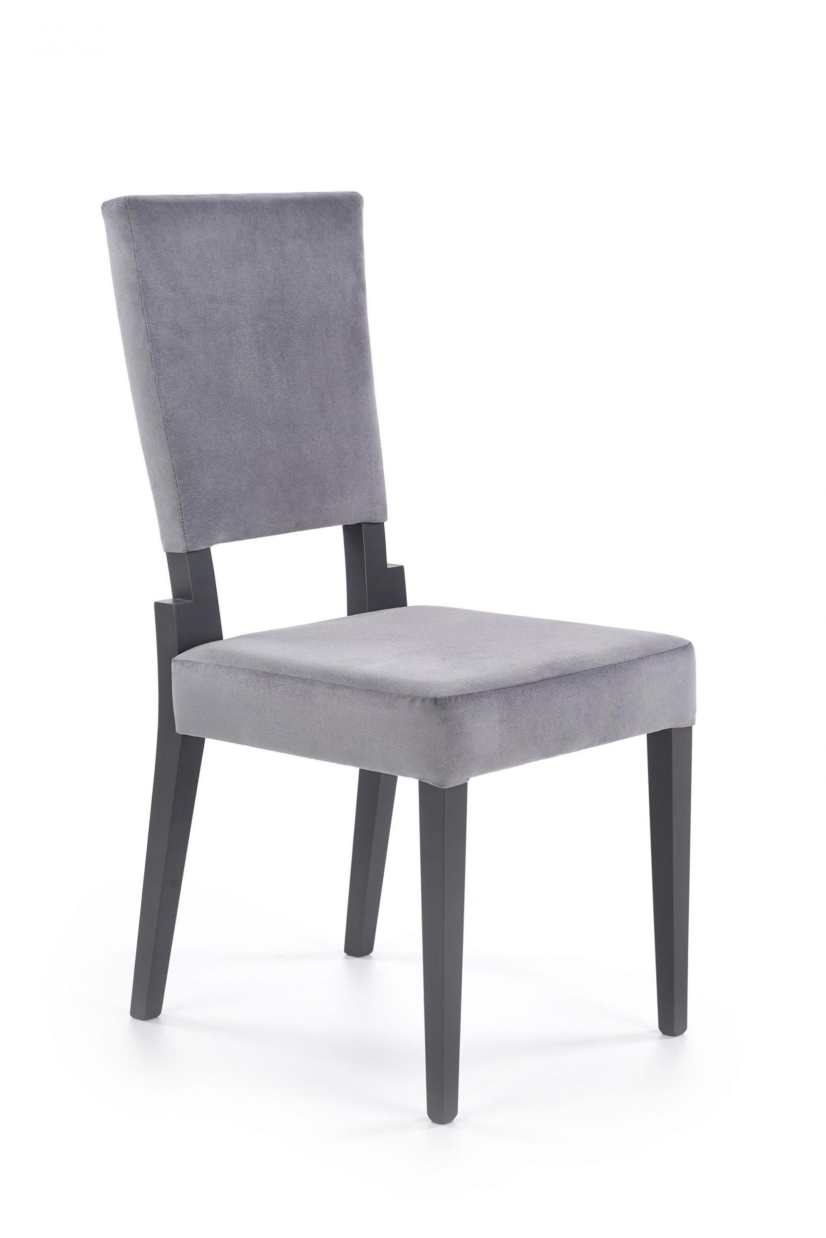 Scaun tapitat cu stofa cu picioare din lemn Sorbus Gri / Grafit l44xA57xH95 cm