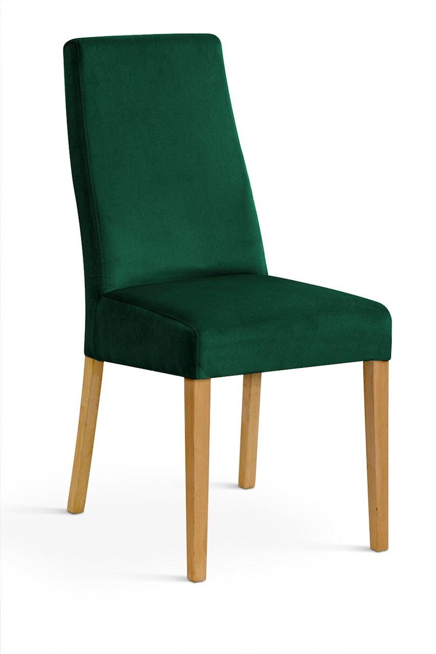 Scaun tapitat cu stofa cu picioare din lemn Villa Green / Oak l47xA60xH97 cm