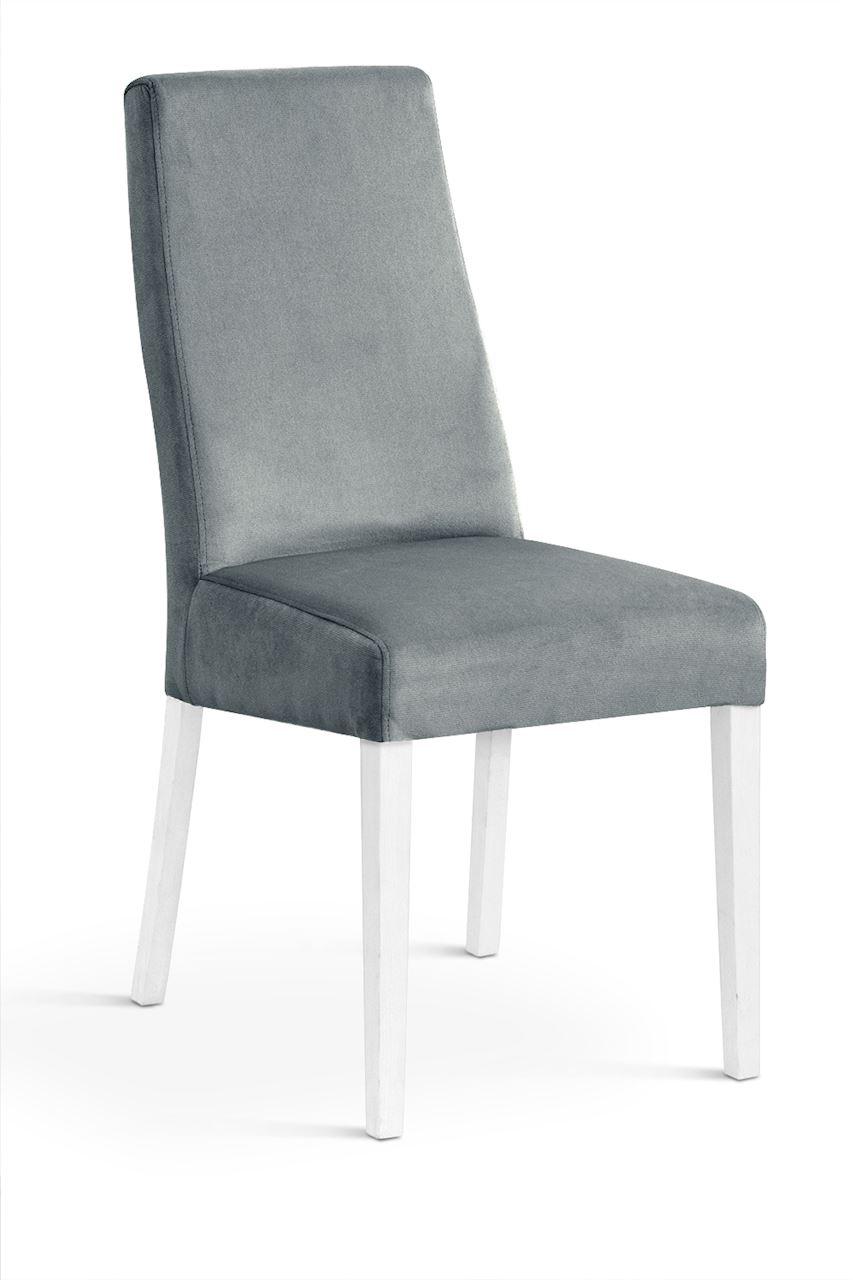 Scaun tapitat cu stofa cu picioare din lemn Villa Grey / White l47xA60xH97 cm