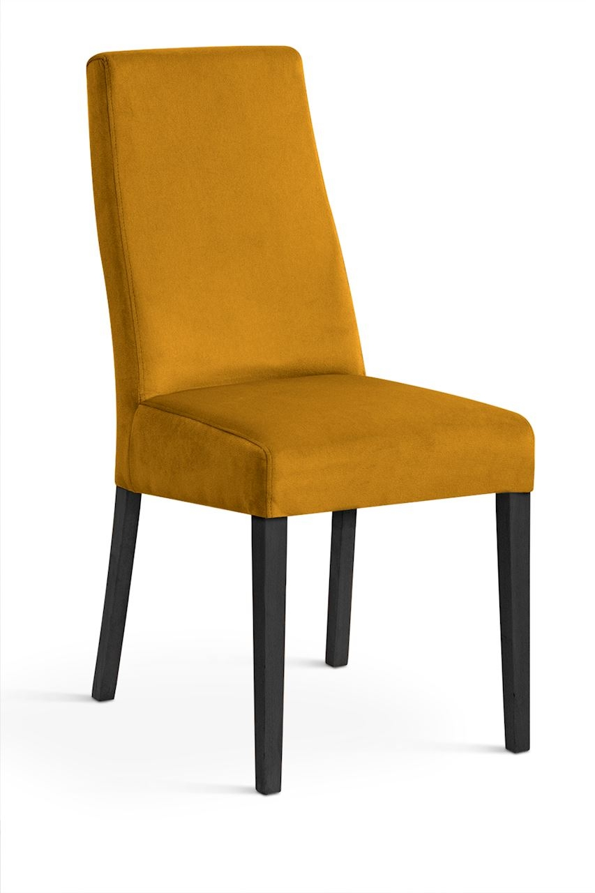 Scaun tapitat cu stofa cu picioare din lemn Villa Honey / Black l47xA60xH97 cm