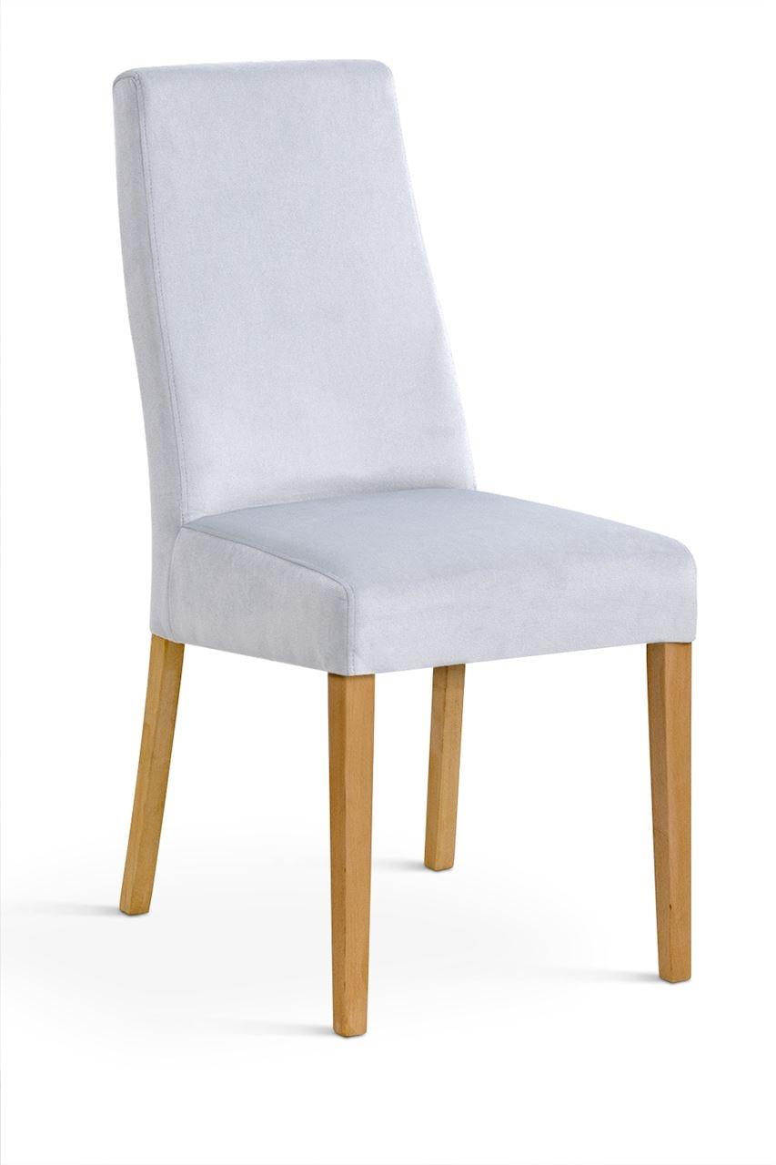 Scaun tapitat cu stofa cu picioare din lemn Villa Silver / Oak l47xA60xH97 cm
