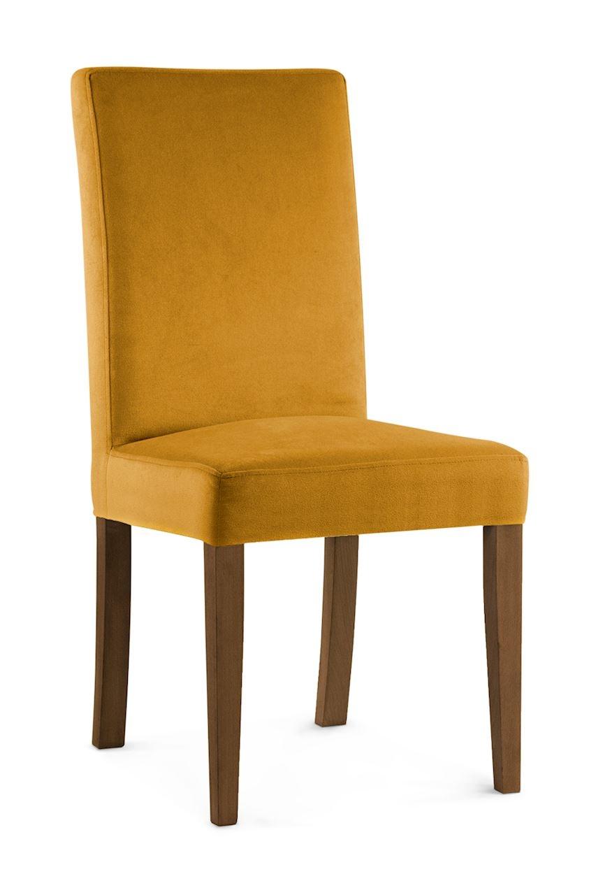 Scaun tapitat cu stofa cu picioare din lemn Willford Honey / Walnut l47xA60xH97 cm