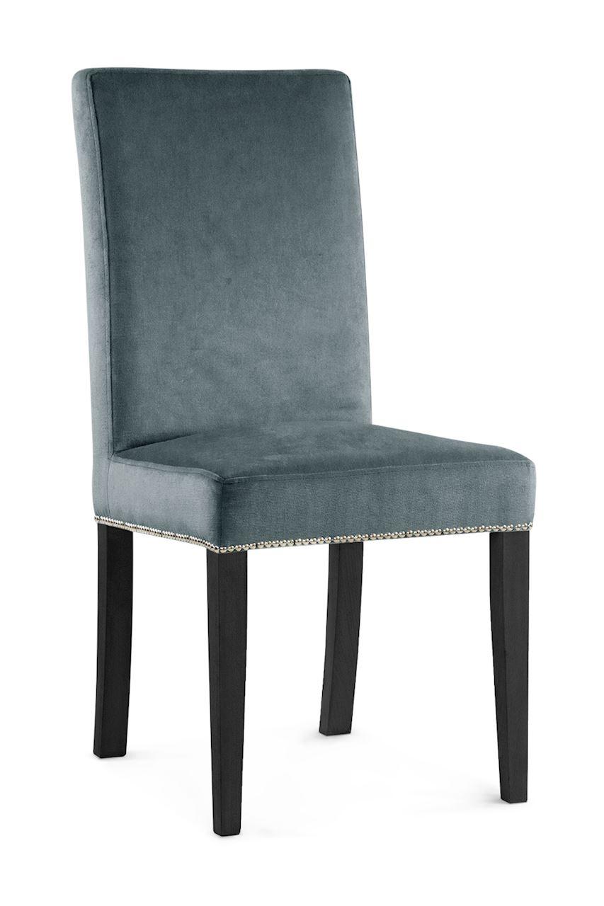 Scaun tapitat cu stofa cu picioare din lemn Willford II Grey / Black l47xA60xH97 cm