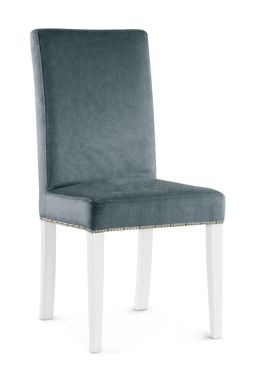 Scaun tapitat cu stofa cu picioare din lemn Willford II Grey / White l47xA60xH97 cm