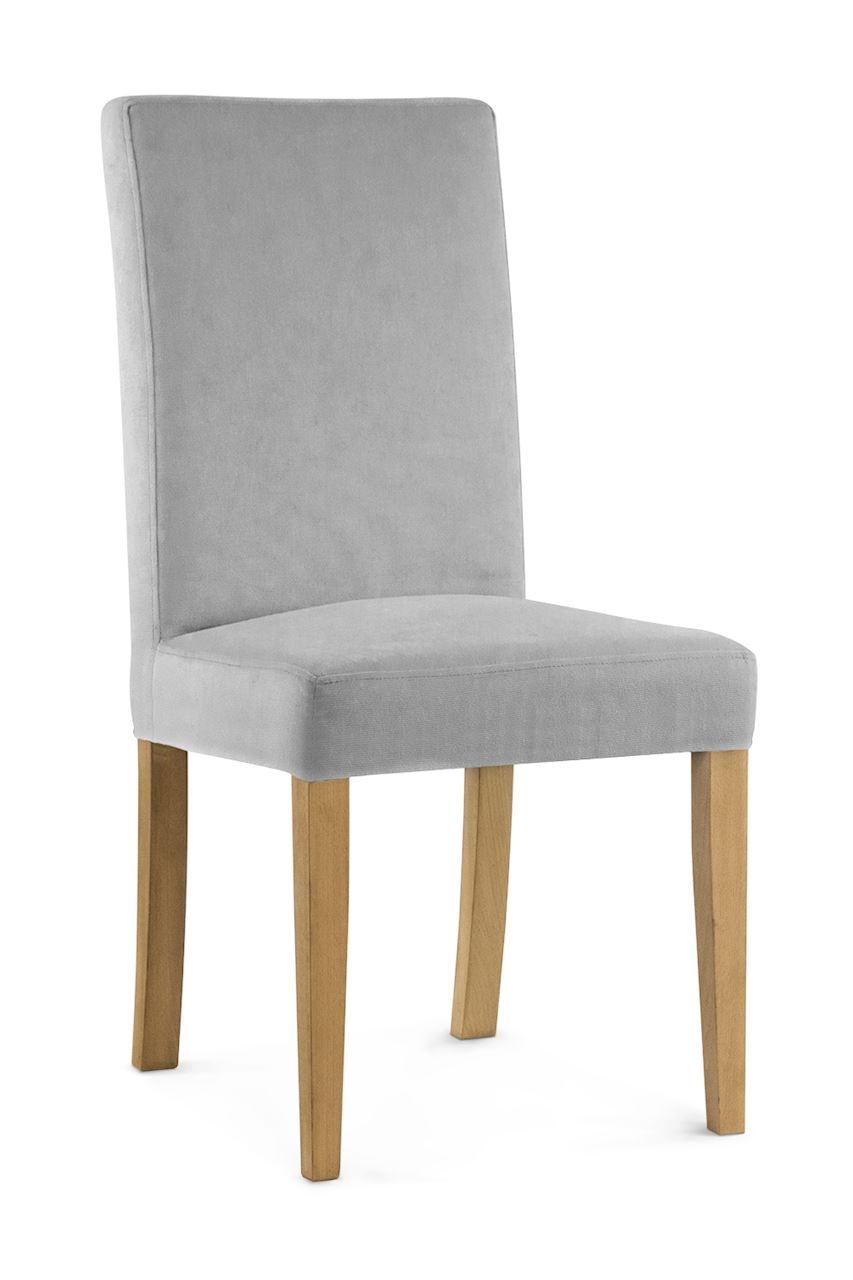 Scaun tapitat cu stofa cu picioare din lemn Willford Silver / Oak l47xA60xH97 cm