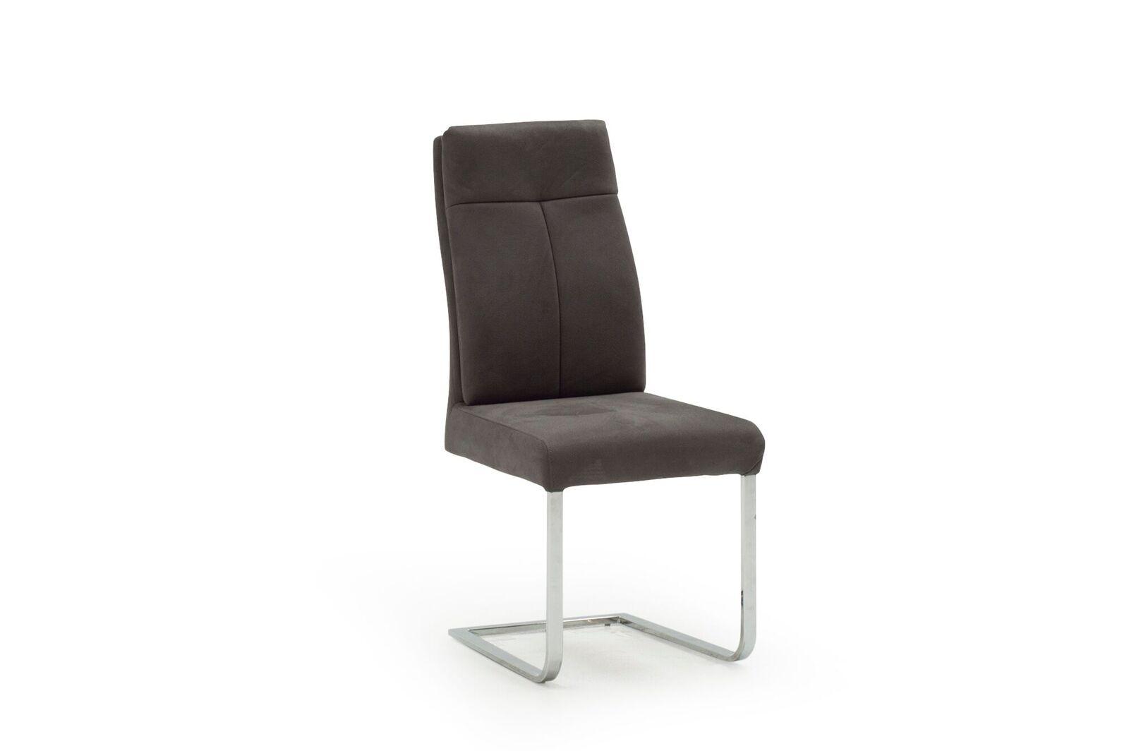 Scaun tapitat cu stofa cu picioare metalice Donatella Grey l63xA445xH104 cm