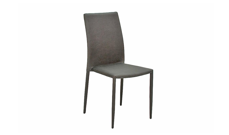 Set 2 scaune tapitate cu stofa cu picioare metalice Enzo Dark Grey l50xA46xH90 cm