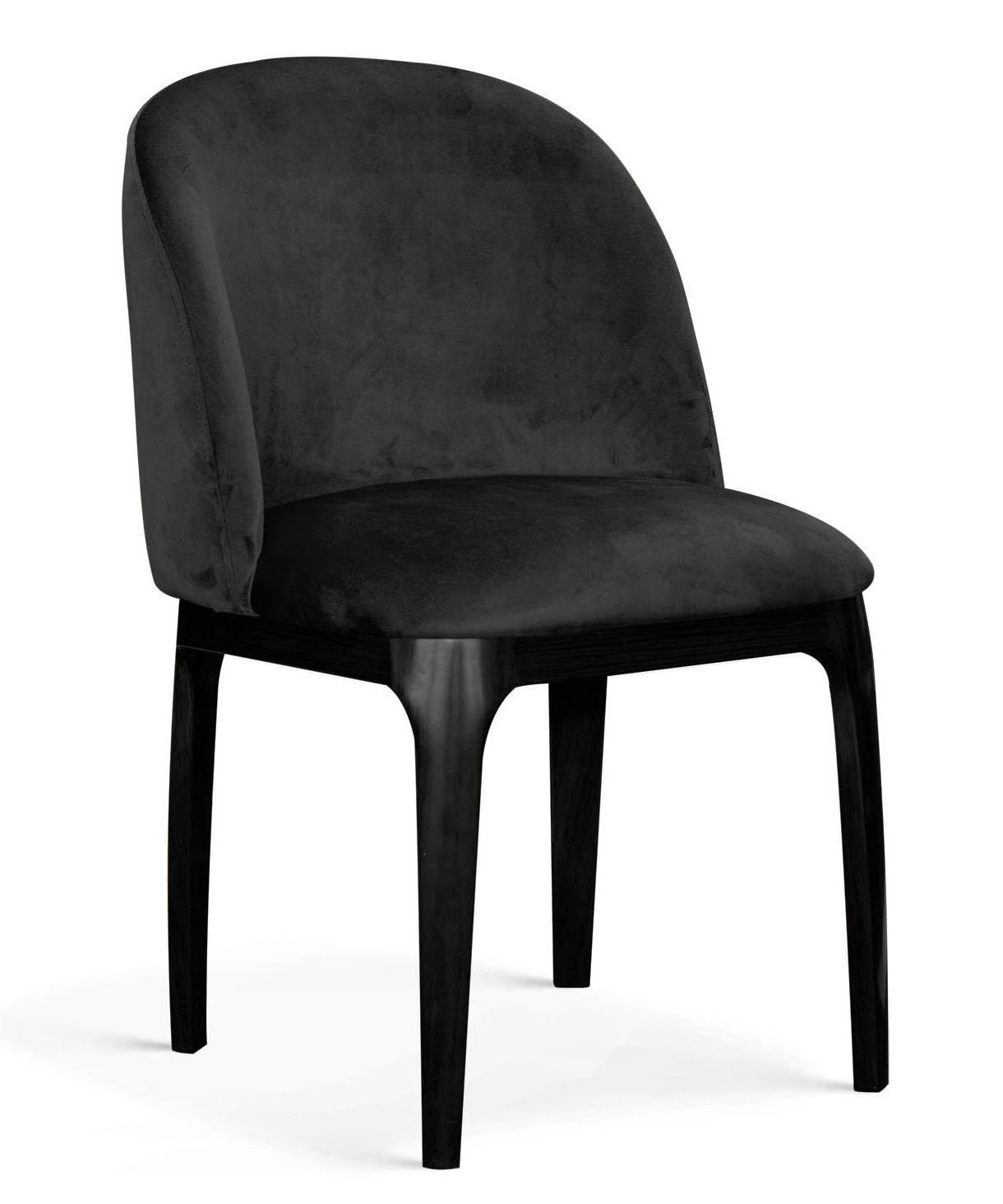 Scaun tapitat cu stofa, cu picioare metalice Grace Negru, l53xA56xH83 cm