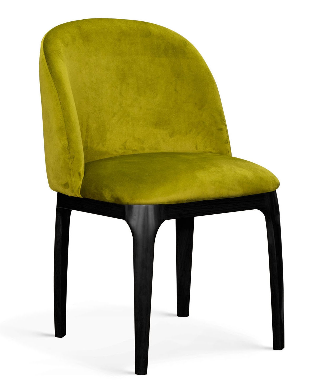 Scaun tapitat cu stofa, cu picioare metalice Grace Verde Olive / Negru, l53xA56xH83 cm