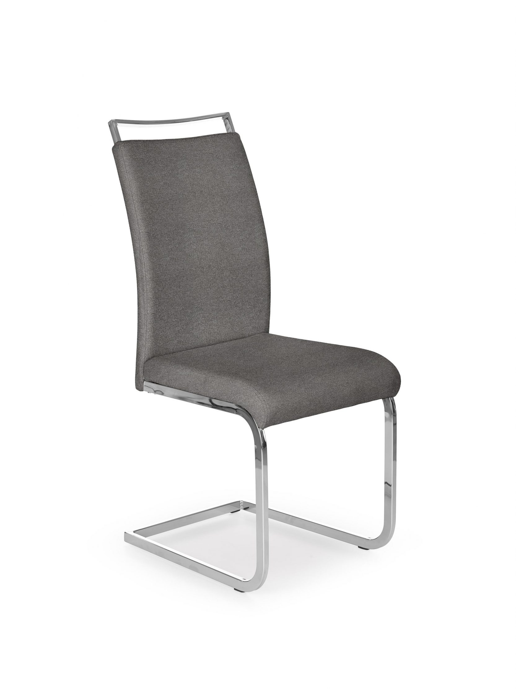 Scaun tapitat cu stofa, cu picioare metalice K348 Gri / Crom, l42xA59xH99 cm imagine