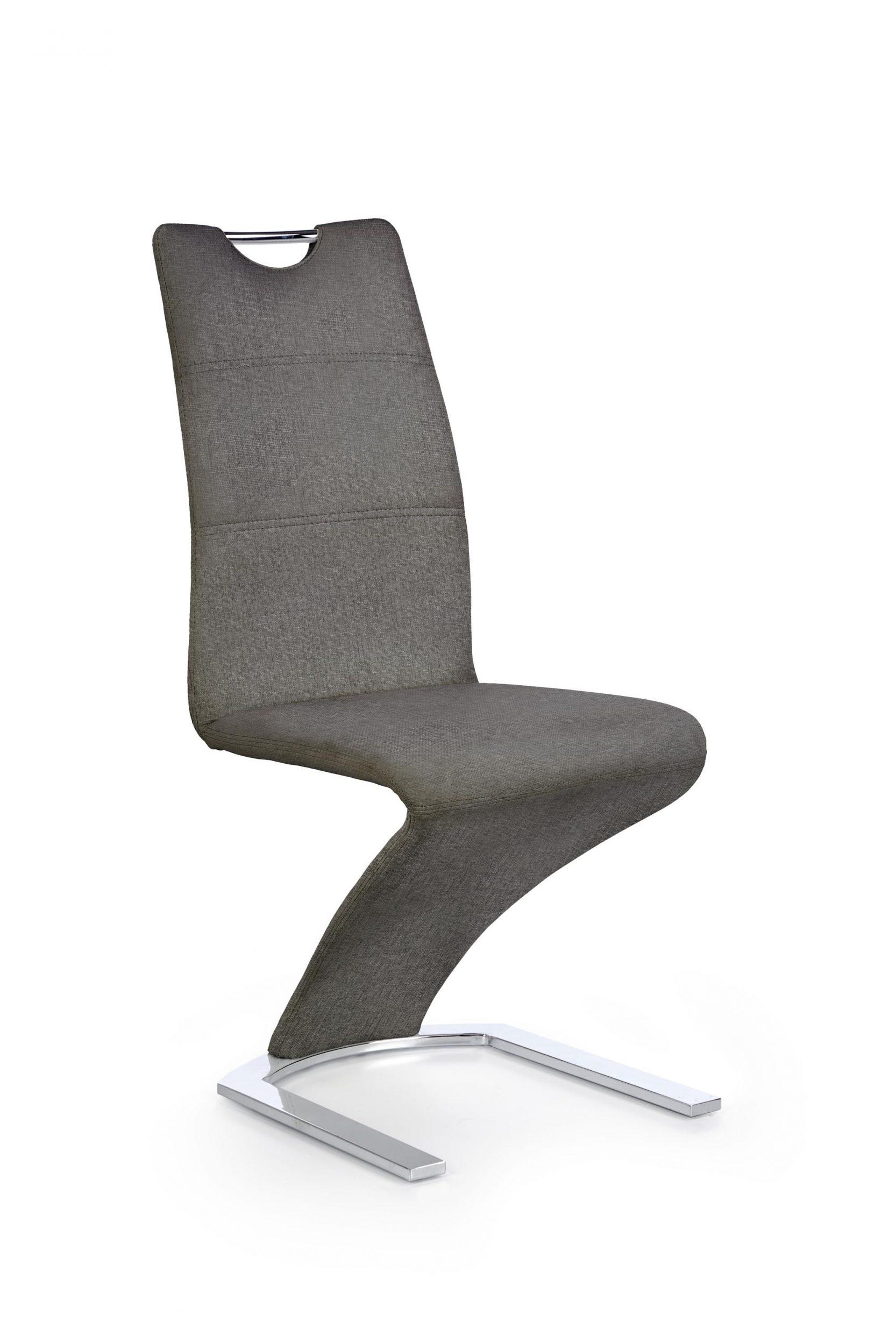 Scaun tapitat cu stofa, cu picioare metalice K350 Gri / Crom, l45xA63xH101 cm imagine