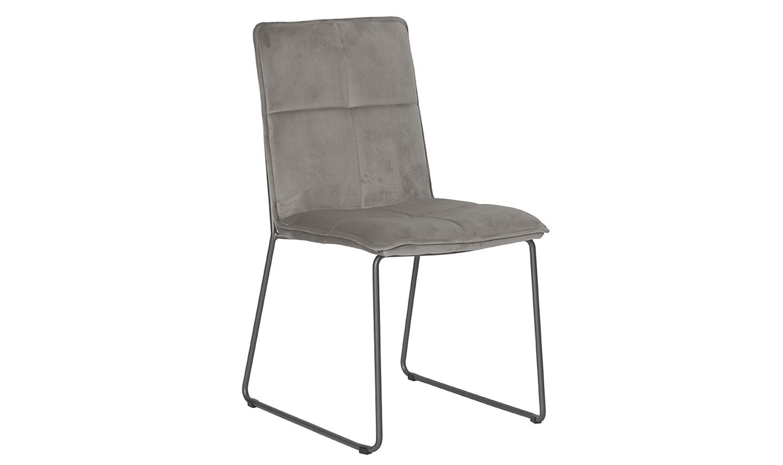 Set 4 scaune tapitate cu stofa cu picioare metalice Soren Mink l585xA56xH91 cm